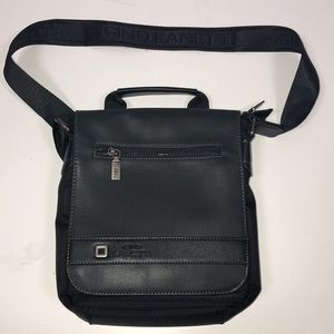 Gino Lanetti Black Messenger Bag